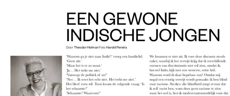 Sneak preview: Theodor Holman in PINDA* – de glossy met een Indisch tintje. Bestel 'm alvast